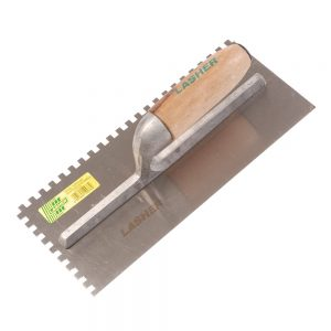 Trowel - Tilers (Wooden Handle, 6x6x6 Notched) | FG10076