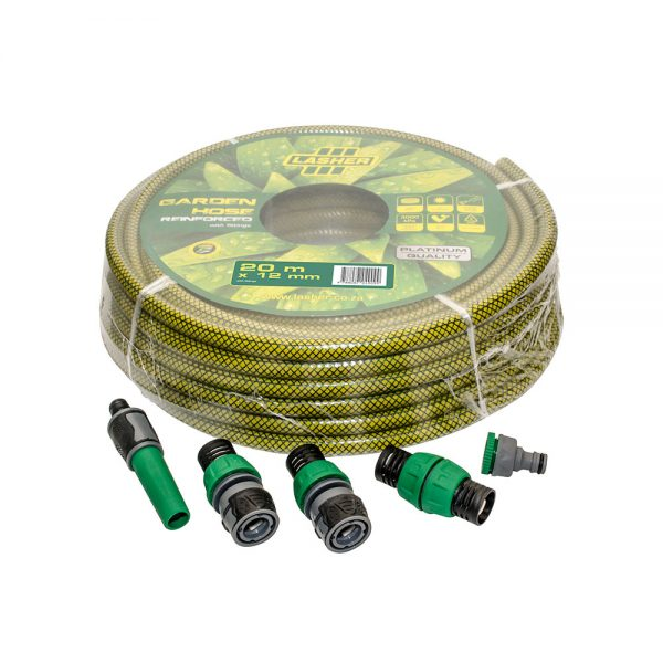 HOSE PIPE 12mm x 20m WITH FITTINGS PLATINUM   FG07000