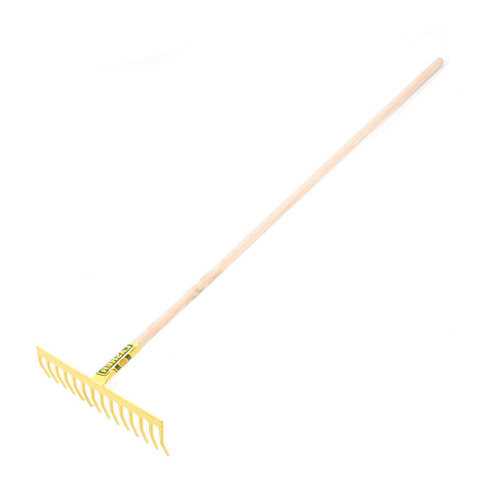 Rake - Deluxe Garden (14 Tooth Heavy Duty, Wooden Shaft) | FG00030