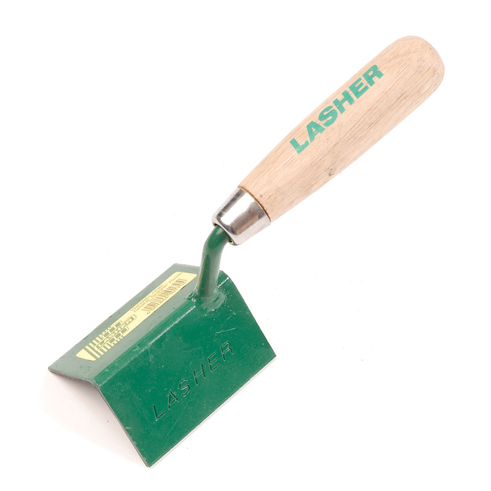Trowel - Sharp Corner Outside (Wooden Handle, 150mm) | FG10174